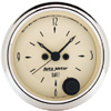 "Autometer Antique Beige Short Sweep Electric Clock Quartz Movement w/Second Hand Gauges  2 1/16"" (52.4mm)"