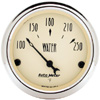 "Autometer Antique Beige Short Sweep Electric Water Temperature Gauges  2 1/16"" (52.4mm)"
