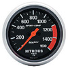 "Autometer Sport Comb Full Sweep Electric Nitrous Pressure Gauge 2 5/8"" (66.7mm)"