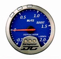 Blitz - Gauge - DC II Series 60mm Blue Boost Meter