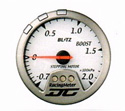 Blitz - Gauge - DC II Series 60mm White Boost Meter