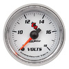 "Autometer C2 Full Sweep Electric Voltmeter gauge 2 1/16"" (52.4mm)"