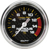 "Autometer Carbon Fiber Full Sweep Electric Nitrous Pressure gauge 2 1/16"" (52.4mm)"