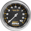 "Autometer Carbon Fiber In-Dash Tachs & Speedos Tachometer gauge 3 3/8"" (85.7mm)"