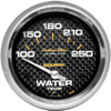 "Autometer Carbon Fiber Short Sweep Electric Water Temperature gauge 2 5/8"" (66.7mm)"