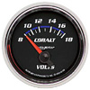 "Autometer Cobalt Short Sweep Electric Voltmeter gauge 2 1/16"" (52.4mm)"