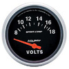 "Autometer Sport Comp Short Sweep Electric Voltmeter Gauge 2 5/8"" (66.7mm)"
