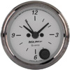 "Autometer American Platinum Short Sweep Electric Clock Electronic Quartz Movement w/Second Hand Gauges  2 1/16"" (52.4mm)"