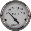 "Autometer American Platinum Short Sweep Electric Voltmeter Gauges  2 1/16"" (52.4mm)"